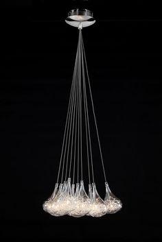 Pendelleuchte Silber Draht im Glas inkl. Leuchtmittel Pendellampe Hängelampe NEU…