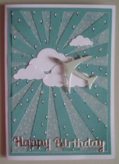 Hand made Birthday card using SU DSP and plane die Bday Cards, Birthday Cards For Men, Masculine Birthday Cards, Masculine Cards, Happy Birthday Man, Planes Birthday, Air Planes, Kids Cards, Birthday Quotes