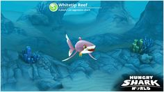 Check out my Whitetip Reef from Hungry Shark World!
