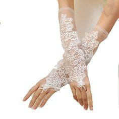 L6 Fingerless Bridal Lace Wrist Wedding Gloves Flower,Ivory /WHITE (ONE SIZE (18CM), IVORY) LondonProm http://www.amazon.co.uk/dp/B00KWBMCHQ/ref=cm_sw_r_pi_dp_PRSRtb0AZ8G8NFQY