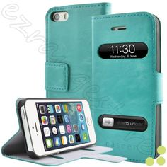 caseen-Apple-iPhone-5-5s-Luxury-Wallet-Leather-Book-Style-Flip-Stand-Case-Cover