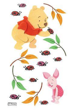 Pooh & Piglet & ladybugs :-)