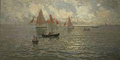 Canots et voiles de Douarnenez - Amedee Julien Marcel-Clement