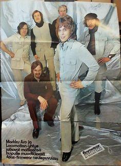 Julisteet: Markku Aro ja Locomotion-yhtye (Finnwear-mainos) - Suosikki 1971