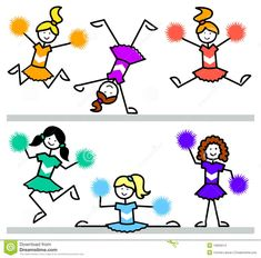 kids cheerleader drawing - Google Search