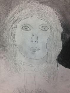 self portraits, baroque art, art education, value drawing, shading, proportion, portrait, contrast