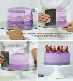 Ombre buttercream icing