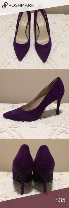Deep Purple Nine West Suede Pumps 6.5 Get this super sexy purple pair of brand new Nine West pumps! Good for the office, for your next hot date, or a fun night out with your bffs!!! 😊 True to size, narrow 6.5, deep purple suede. No trades, but reasonable offers welcome! Happy Poshing my Dears!!! 🌺 Nine West Shoes Heels
