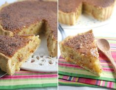 Mamma's coconut tart (klappertert) - Reminds me of chess pie. I'd make my own crust of course.