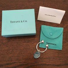 Hp Tiffany & Co. Sterling Silver Key Ring