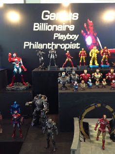 Iron Man Display Genius Billionaire Playboy Philanthropist Iron Suits at Thailand Comic Con