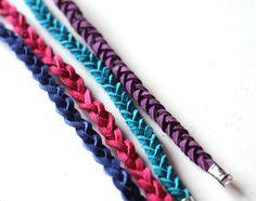 Leather string bracelets