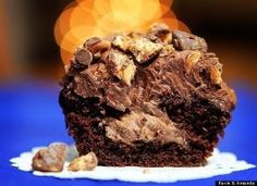 Who would rather have just the candy bar when they could have the candy bar transformed into a quadruple chocolate cupcake?