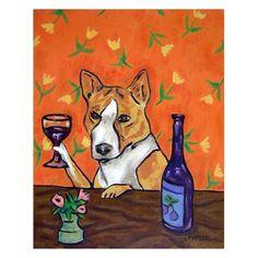 SCOTTISH TERRIER LICKING A LOLlipop dog art  4x6  GLOSSY PRINT