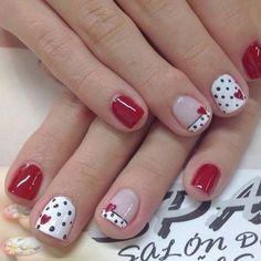 Fancy Nails, Red Nails, Pink Nail, Shellac Manicure, Pastel Nails, Bling Nails, White Nails, Gorgeous Nails, Pretty Nails
