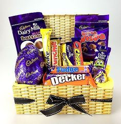 Buy Wow - Our Best Cadbury from - Compare Today's Best Prices Chocolate Hamper Basket, Chocolate Hampers, Chocolate Gifts, Chocolate Bars, Food Hampers, Gift Hampers, Gift Baskets, Sweet Hampers, Easter Chocolate