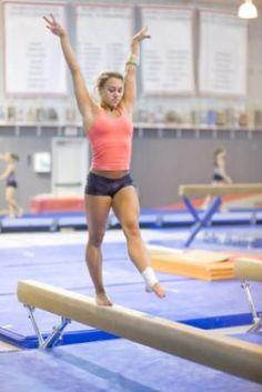 A Gymnastics photo of a gymnast training on balance beam - © Brian McEntire