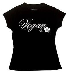"T-Shirt ""Vegan Flowers"" - Slim Fit Color: Black Cotton Vegan Sweatshop Free, Fair Trade, Organic Cotton Fair Trade, Organic Cotton, Color Black, Slim, Vegan, Clothing, Flowers, Mens Tops, T Shirt"