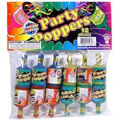 Phantom Fireworks® Party Poppers 12-Piece