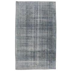 Pale Blue Grey Abrash Turkish Rug - $1,775 Est. Retail - $1,125 on Chairish.com