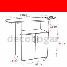mueble planchador melamina 2 ptas tabla planchar decohogar