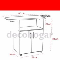 Mueble Planchador Melamina 2 Ptas Tabla Planchar Decohogar - $ 859,99 en MercadoLibre