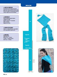 "ru / Alleta - O álbum "". com capuz"" Hooded Scarf Pattern, Crochet Hooded Scarf, Crochet Hoodie, Crochet Scarves, Crochet Yarn, Knitting Patterns, Crochet Patterns, Crochet Shawls And Wraps, Diy Clothes"