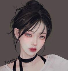 Pretty Anime Girl, Cool Anime Girl, Beautiful Anime Girl, Anime Art Girl, Manga Girl, Digital Art Anime, Digital Art Girl, Anime Korea, Anime Crying