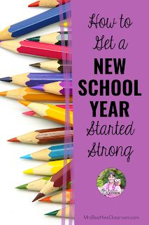 Heading back to school to begin a new school year is a time to improve your past teaching practices and establish routines and expectations for your new students. This blog post includes resources, ideas, and freebies for getting your new school year started strong. The New School, New School Year, Back To School, Parent Open House, School Terms, Teacher Organization, New Students, Free Tips, Teaching Resources
