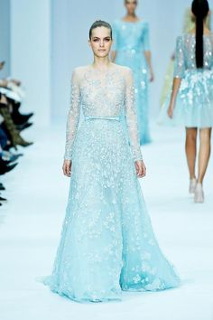 elie saab haute couture spring 2012. Love the color of all the dress
