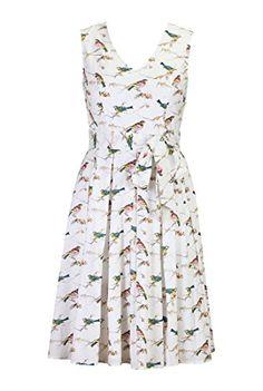 eShakti Women's Bird print sash tied dress M-8 Regular Cream multi eShakti http://www.amazon.com/dp/B00MWX78L2/ref=cm_sw_r_pi_dp_bULhub0YP3NHD