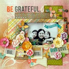 Stunning layout using our Vintage Bliss line, created by Irene Tan for the Simple Stories and Petaloo Team Up Week