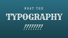 Whether you're working on a document that will be showcased online or printed from that ancient inkjet on your desk, something to be projected in a big screen at the AGM or rolled off a huge four-color press, every document you've worked to design or write has one thing in common: typography.