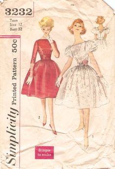 Vintage 50s Dress Pattern For Bathing Suits And More By Fancywork