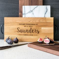 A truly customisable gift, this fully personalised board with choice of wood type and handle options is made for you with precision and care.