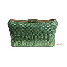 dba2a75bdf7 Women Party Green Metal Box Shoulder Handbag Crystal Evening Clutch Wedding  Clutches Bags Evening Purse Bolsos de Fiesta. Yesterday s price  US  31.74  ...