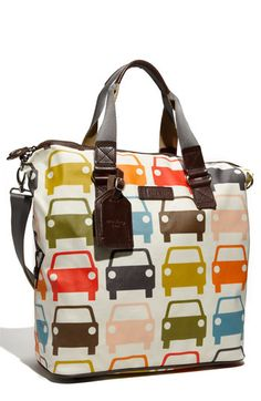 i have coveted the orla kiely car print luggage for years. i mean it really would look cute in my car. Orla Kiely Bags, Travel Tote, Travel Luggage, Fall Accessories, Simple Bags, Big Bags, Nylon Tote, Purses And Handbags, Fashion Bags