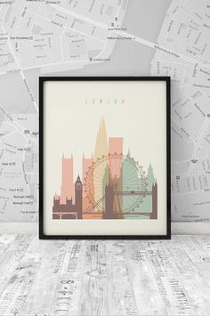 London printable Printable Poster Wall Art Travel by ArtFilesVicky