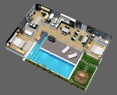Pool House Plans, Sims House Plans, House Layout Plans, Dream House Plans, Small House Plans, House Layouts, Family House Plans, Home And Family, Sims 4 House Design