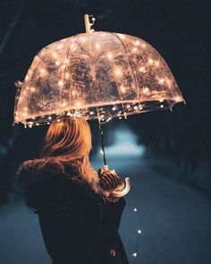 Fairy lights can make anything beautiful Jolie Photo, Pretty Pictures, Portrait Photography, Rainy Day Photography, Photography Ideas, Photography Lighting, Umbrella Lights Photography, Fairy Light Photography, Magical Photography