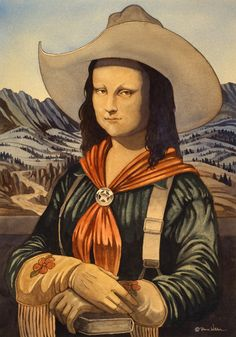 """Montana Lisa"" - art by Dave Wilder, via tulisayoconda blog"