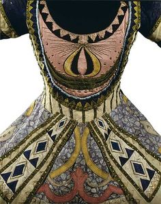 Costume for the Blue God - This is a dress from Ballet Russe designer Leon Bakst. Lots of people were influenced by what ballerinas wore. There are also elements of cubism and art deco. Theatre Costumes, Ballet Costumes, Dance Costumes, Paul Poiret, Vintage Outfits, Vintage Fashion, Vintage Clothing, Nureyev, Russian Ballet