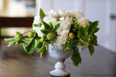 Persimmons and Garden Roses by Tulipina