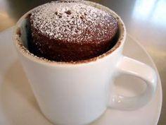 Bolo de chocolate em uma caneca - microondas (3 min.) -, Receita Petitchef