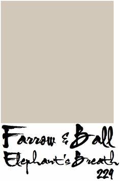 Wall colour - Farrow & Ball Elephant's Breath 229