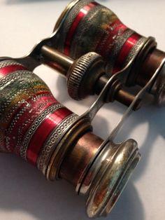 Antique Vendome Paris Opera Glasses Enamel Rare