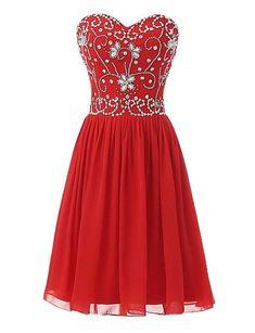 13ade4d15d3 Sweetheart Short Chiffon Homecoming Dress I1015 Short Prom
