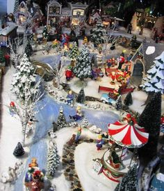 Christmas Village Ideas | Christmas Snow Village, Using Dept 56 Snow Village pieces styrafoam ...