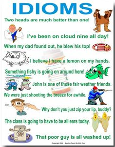 In this hub, I will introduce idioms that are commonly used in the English language. If you are new to the English language, it is a vibrant language with all kinds of wacky, fascinating expression. I hope you will find this useful.