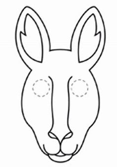 Image result for kangaroo face mask Face Mask Template